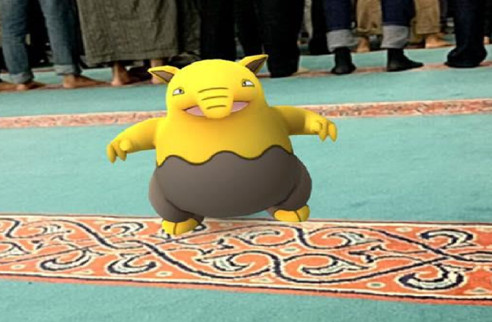 Pokemon at Mosque